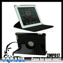 Lattice leather cover 360 degree case for ipad mini 3