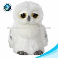 Lovely white custom plush big eyes owl toy stuffed soft big eyes animal