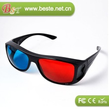 HOT! high quality china price red and blue 3d sunglasses