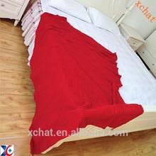 Moden art desgin soft high quality 100% cotton blanket