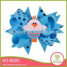 Cute bird blue hair ribbon flowers