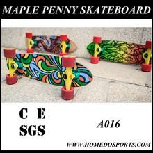 Land surfer penny skate board bamboo penny skateboard