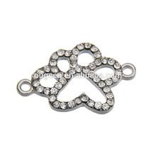 2015 hot sale Silver plated diamond rhinestone connector beads