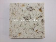 Vatro Newest Fleck Cream Quartz Stone Slab Kitchen Countertop