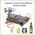 La cabeza 2iston p de relleno líquido de llenado de la máquina semi automática/tapa de la mesa de líquido de llenado de la máquina