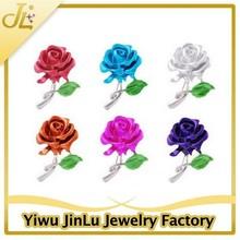 Fashion colorful cheap flower brooch