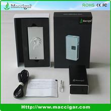 Maccigar new 30w box mod with OLED screen tar free cigarette