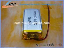 702040 300mAh /320mAh/380mAh multi capacity 3.7v li-ion battery for multi use for electric pen and ego in us market