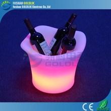 Glacs controle LED iluminado legal Martini balde de gelo balde fruto descartável