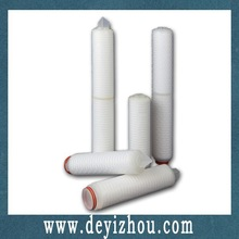 Pleated PP ink filter cartridge