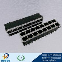 Multiple Port Ethernet RJ45 Connector W/LED W/TRAN