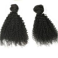 "Unprocessed Virgin Malaysisan Kinky Curly Hair 3Pcs 12""14""`16"" Mixed Length 7A Malaysisan Wet and Wavy Hair Weave"