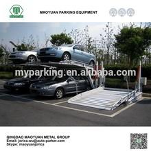 Two level tilt underground stack garage hydraulic residential parking vertical car storage