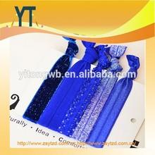 Bule elastic wristband,wholesale customzied woven polyester festival wristbands