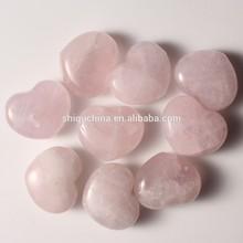 stone factory nature rose quartz heart stone for wedding