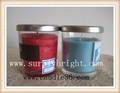 éternelle bougies/bougies encens./bougies bocal en verre avec couvercle en métal