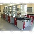 Modern design vente chaude résine époxy/céramiques/trespa/compacte./plans de travail en acier inoxydable personnalisécarte laboratoire meubles malaisiens