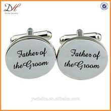 Mens Silver Oval Wedding Cufflinks Groom Best Man CuffLink Gift