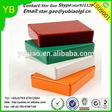 Colorful anodized Custom 1590B Electronics Aluminum Enclosure Box,CNC Machining Aluminum Box Made in China