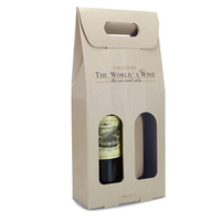 Fold cheap cardboard wine box