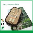 2015 cheap custom promotional fashion beautiful women travel leather pvc cosmetic bag