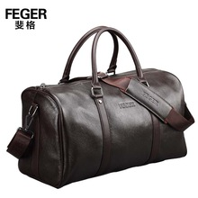 FEGER hote sale portable light business mens leather travel bag black and brown color available
