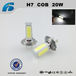 car led lighting COB h7 20w Fog lights Car led 12v-24v Made in China