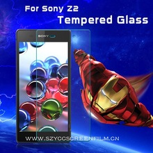 Factory price wholesale anti-fingerprint,anti-explosion,ultra clear tempered glass screen protector for Sony Xperia Z2