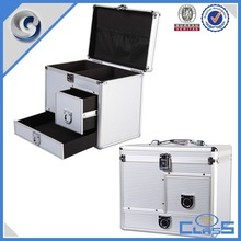 High Quality New Design Drawer Silver Surface Custom Aluminum Luggage Case