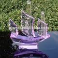 Colorida de cristal modelo, navio de cristal para presentesdeférias ou lembrança ou decoração