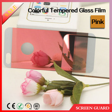 Front and back color mirror tempered glass touch screen protective film for iphone6