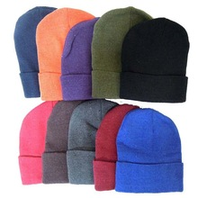 New Men & Women Solid Color Warm Plain Knit Ski Beanie Hat