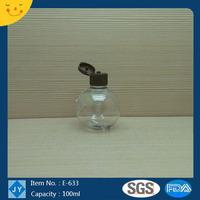 100ml 3oz mini manufatural pet plastic bottles for lotion,essential oil,olive oil