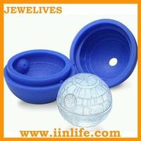 Whisky mixer football ball shaped silicone ice cube tray