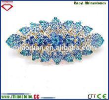 Alloy silver flower pin crystal brooch brooch wholesale