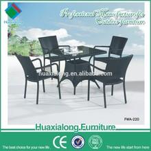 White 4 seater aluminium frame Stackable Rattan Outdoor Wicker Patio Furniture