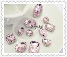 teardrop point back crystal beads