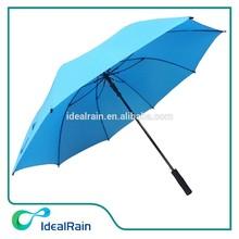 auto open wind resistant blue advertising golf umbrella