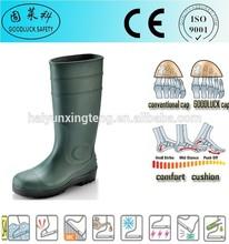 Oil Field Dark Green PVC Boots Steel Toe Cap Safety Boots