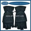 2015 design de moda inverno polar windproof luvas sem dedos