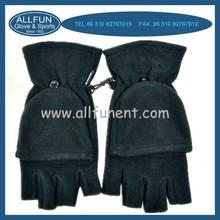 2015 fashion design winter windproof polar fleece fingerless gloves
