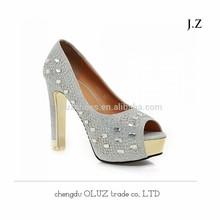OP20 glitter mature sexy women high heel dress shoes ladies party shoes high heel