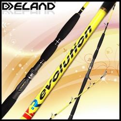 Deland Ikevolution OEM/ODM 1 Section Carbon Jigging Tackle, Max Drag 30kg Big Fishing,Fuji Parts Jigging Tackle