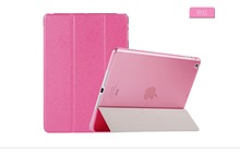 2015 China factory price Ultra-thin gold blocking silk print leather tablet case for ipad air