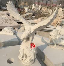 white marble large eagle statues