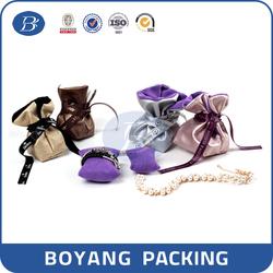wholesale custom pu leather jewelry bag