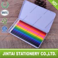 12 Pieces Rectangular Colored Pencils w Tin Box