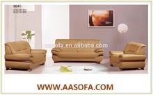 italian sofa factory direct sale royal modern leather sofa set yellow color
