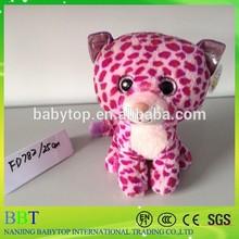 Cute big eyes red cat stuffed animal toy