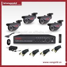 Cheap 700TVL CCTV Camera System with 4pcs Mini 960H Sony IR Camera and 4CH 960P DVR